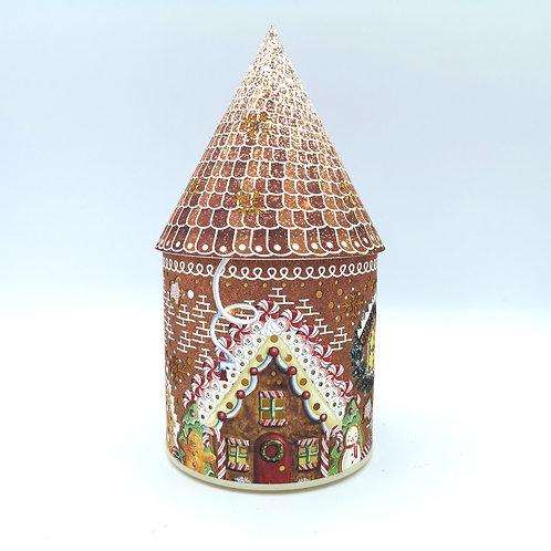 Winter Gingerbread Fairy House Night Light