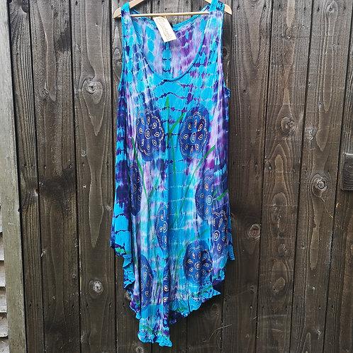 Blue & Purple Tie Dye Dress