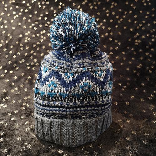 Child's Grey Bobble Hat
