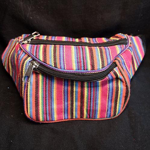 Multicolour Stripy Bum Bag
