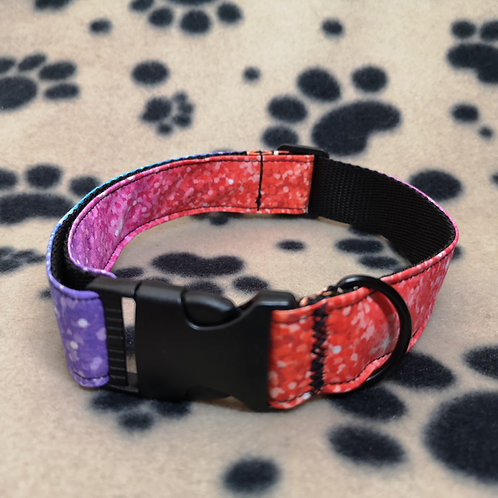 Pink/purple/blue Rainbow Dog Collar