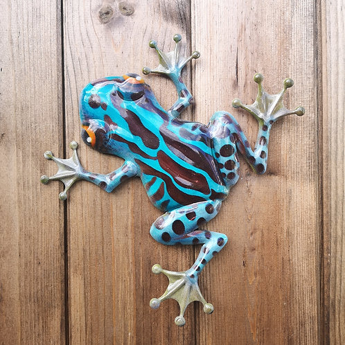 Finley the Frog Metal Wall Plaque