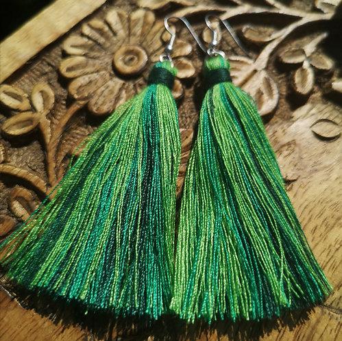 Earth Tassel Earrings