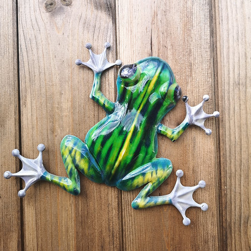 Frank the Frog Metal Wall Plaque