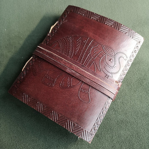 Elephant Small Embossed Leather Journal