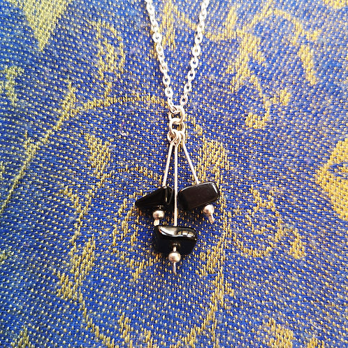 Capricorn Black Onyx Necklace