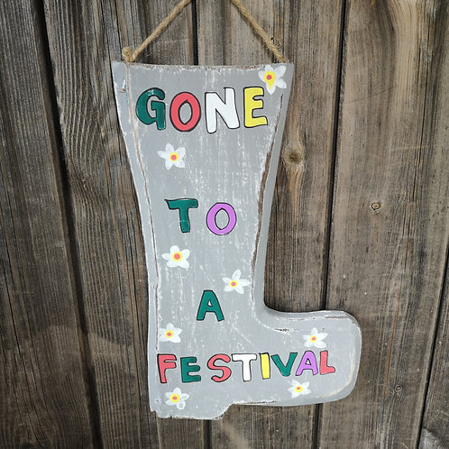 'Gone to a Festival' Plaque