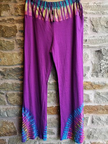 Purple Tie Dye Trousers