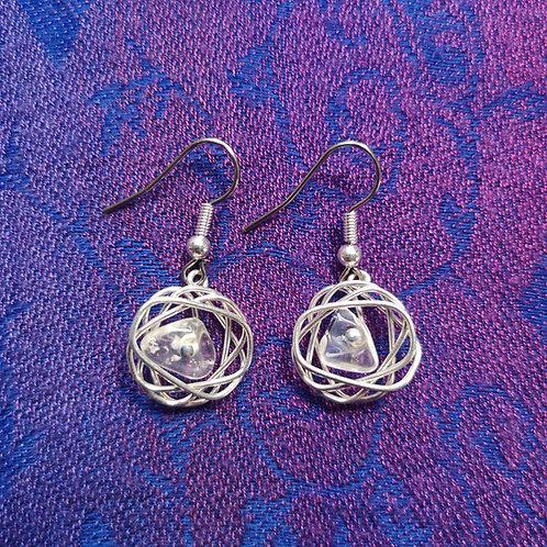 Aries Quartz Squiggle Earrings