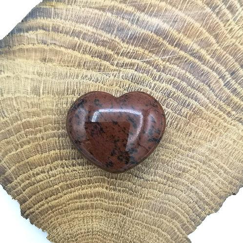 Mahogany Obsidian Heart