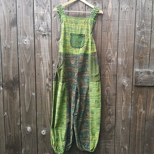 Green Om Dungarees