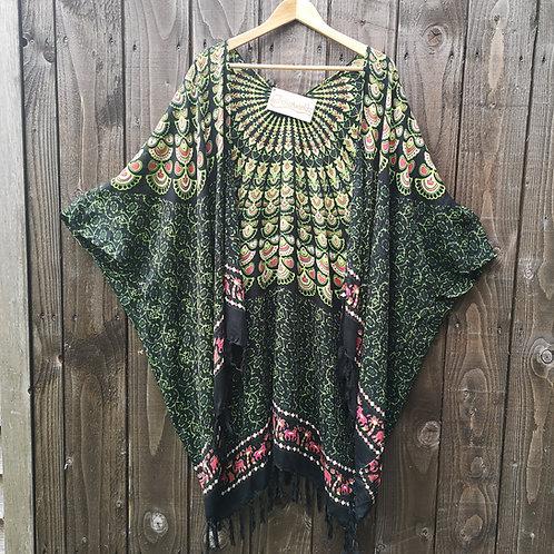 Green Peacock Kimono