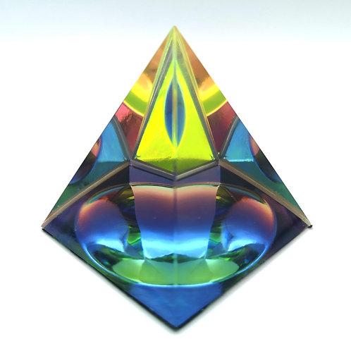 Mystic Glass Square Pyramid Large