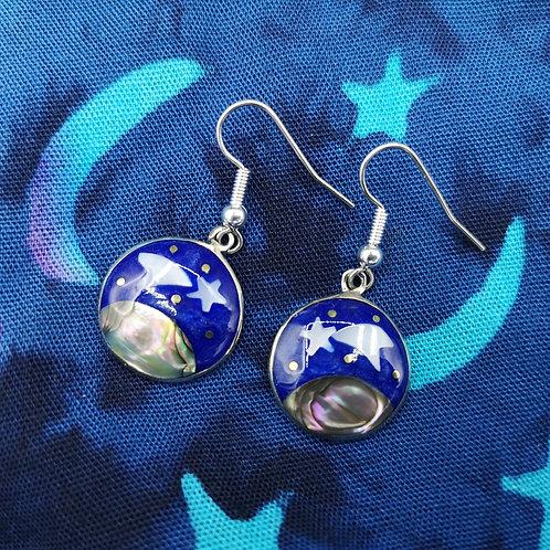 Blue Shooting Star Earrings