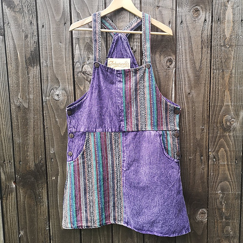 Purple Dungarees Dress