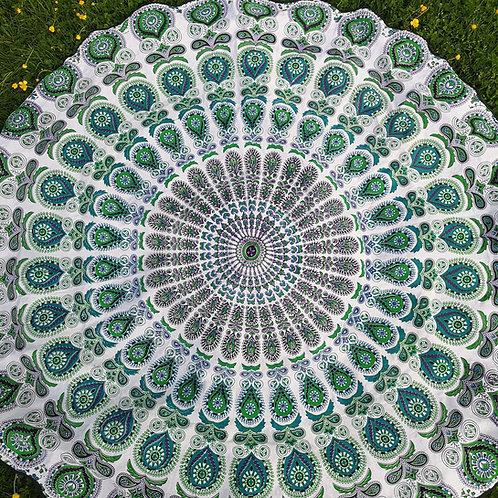 Turquoise Mandala Tablecloth