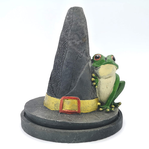 Witches Hat Frog Incense Cone Burner