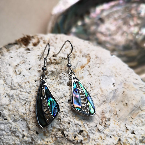 Paua Shell Wing Earrings