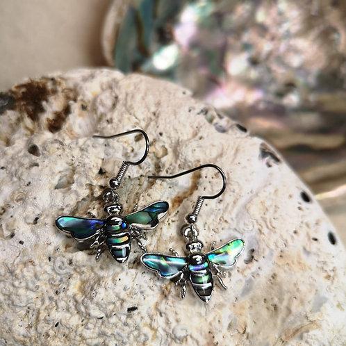 Paua Shell Bee Earrings