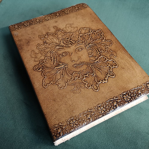 Green Lady Embossed Leather Journal