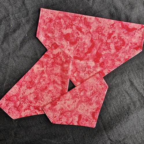 Red Tie Dye Bandana