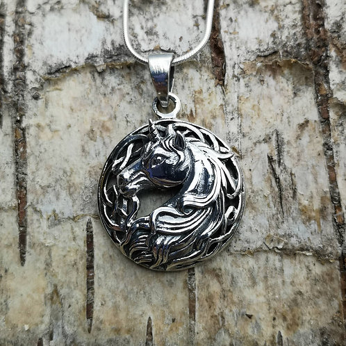 Unicorn Silver Pendant