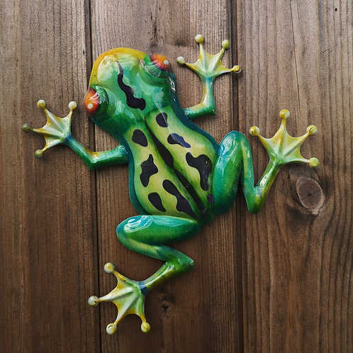 Florence the Frog Metal Wall Plaque