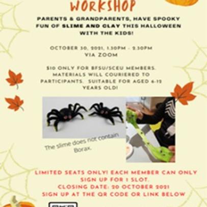 BFSU Halloween Slime and Clay Art Workshop – 30 October 2021