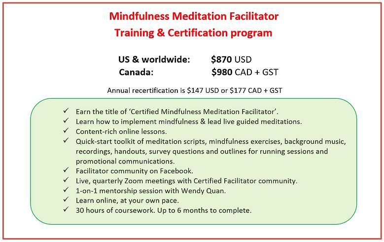 Mindfulness Facilitator Training Certifi