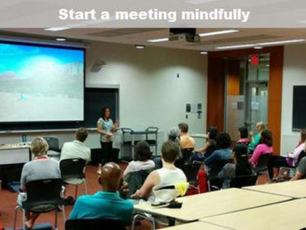 How to start a meeting with a mindful minute