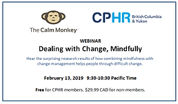 CPHR webinar, Dealing with Change Mindfully