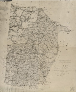 Graves, H. M, et al. Map of Brunswick County, Virginia. [Virginia: Chief engineer's Office D.N.V, 1864] Map. Retrieved from the Library of Congress