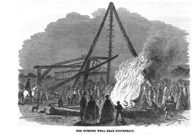 The Burning Well Near Pontefract, 1861, Illustrated London News, Volume 38
