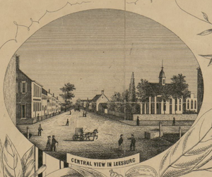 Yardley-Taylor Map of Leesburg, Courtesy of the Library of Congress