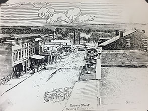 Edward Street, Henry, Illinois by Grant Wright, courtesy of the Henry Public Library