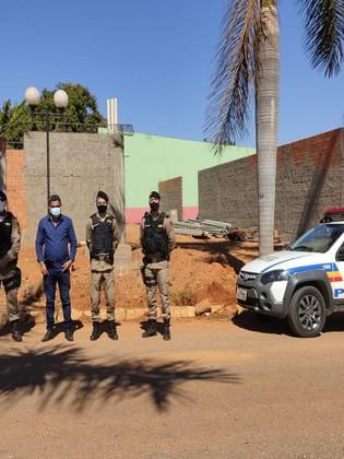 Comandante do 45º BPM faz supervisão no Destacamento PM de Guarda-Mor