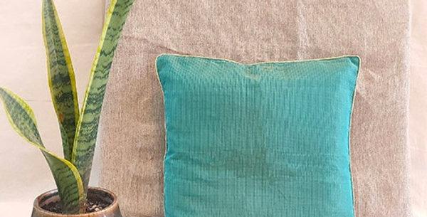 Handmade Solid Green Kota Festive Cushion Cover