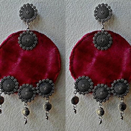 Fabric earring