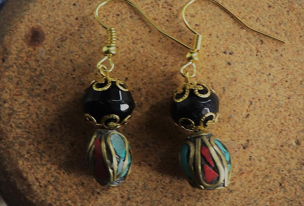 Genuine Gemstone Agate Earring