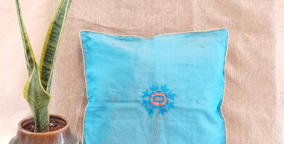 Handembroidered Kota Festive Cushion Cover