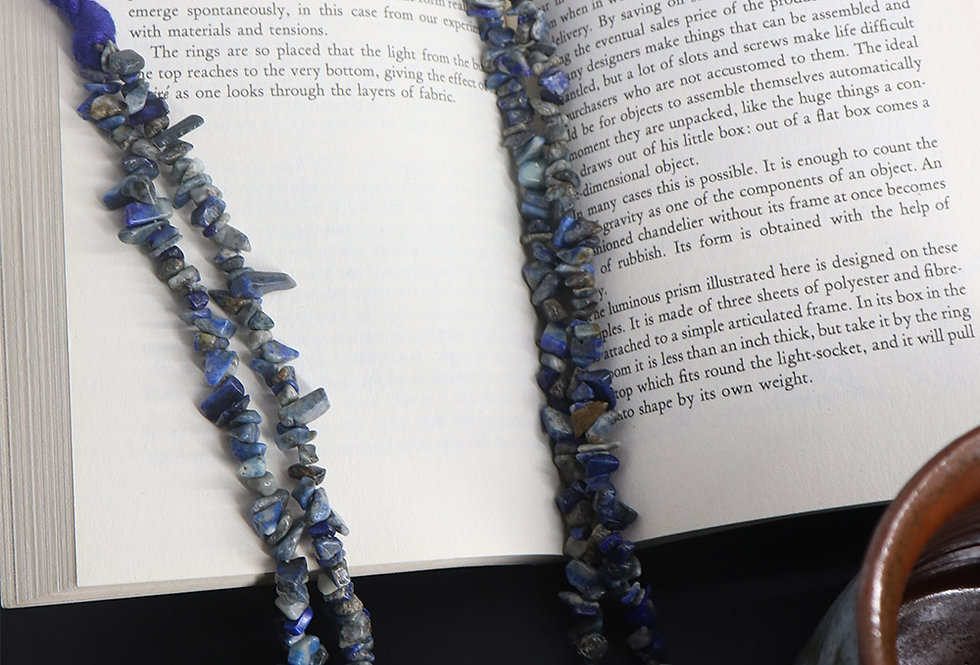 Genuine Gemstone Lapis Necklace