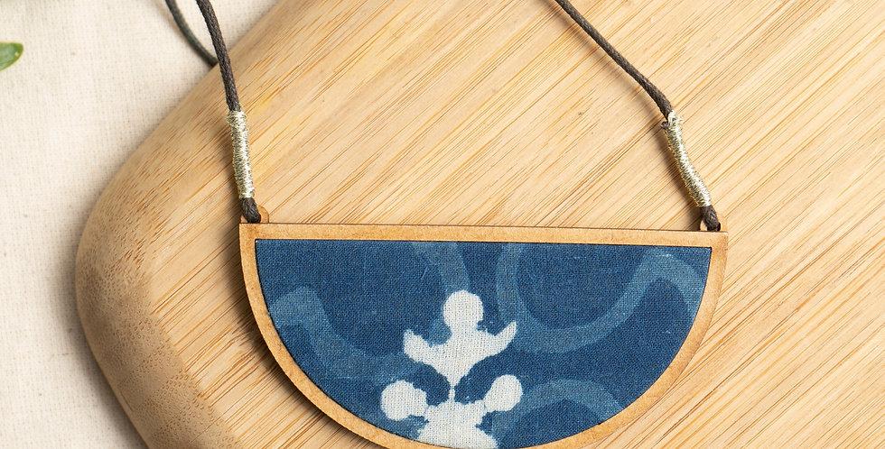 Indigo Semi circle MDF necklace