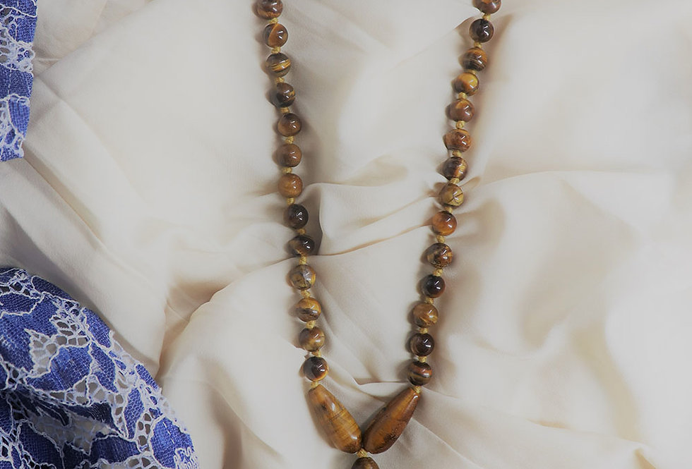 Tiger Eye Gemstone Necklace