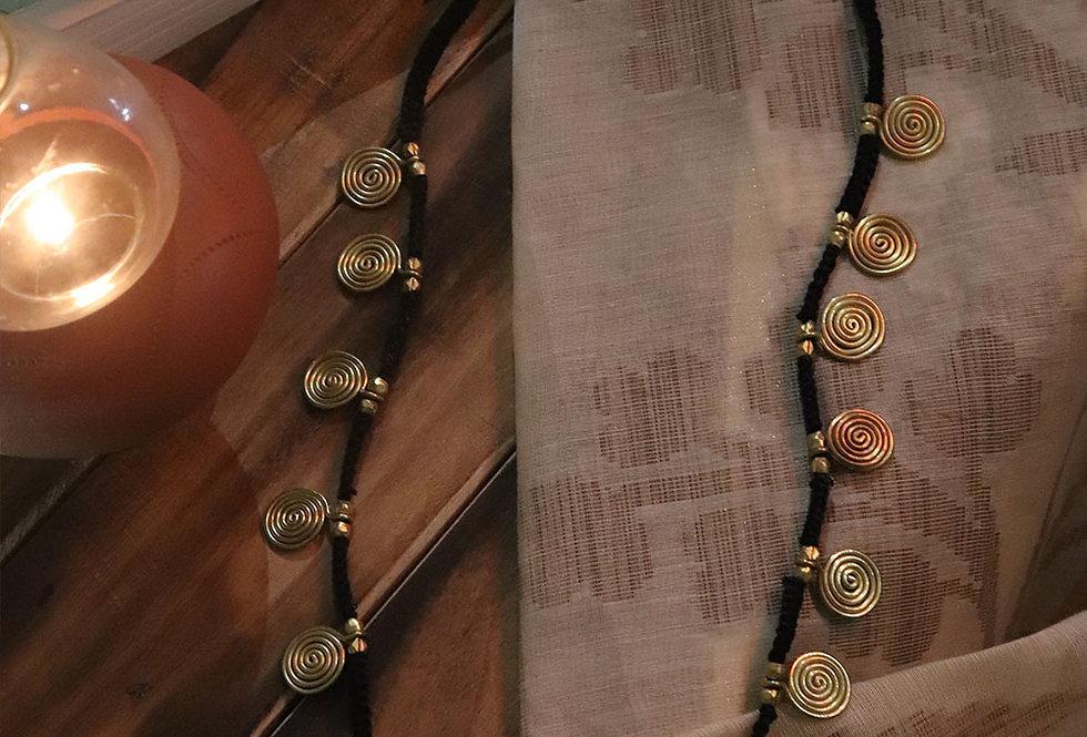 Black dokra coil chain
