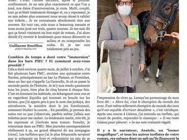 """""""Le roman dont les turfistes sont les héros"""" (JDG)"""