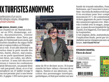 """Aux turfistes anonymes"" (Livres Hebdo)"