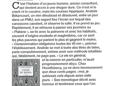"""Le fils caché de Robert Giraud et Jean-Marie Gourio"" (Le Figaro Magazine)"