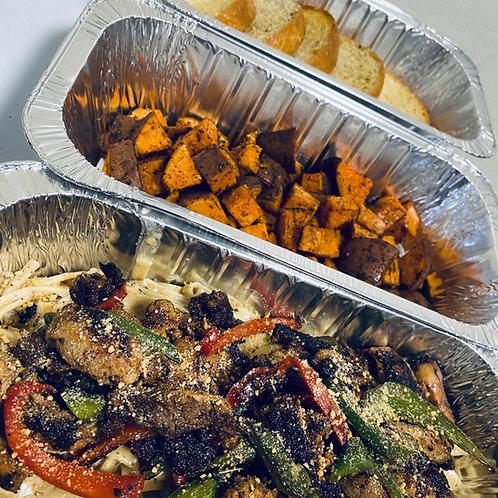 Jerk Chicken Alfredo Pasta Dinner