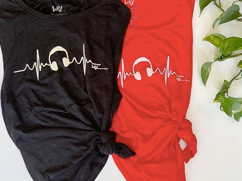 Music Heartbeat muscle tank