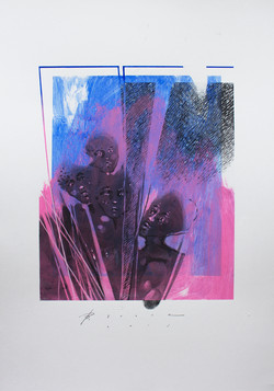 Baki Bodur 50x35cm kağıt mavi